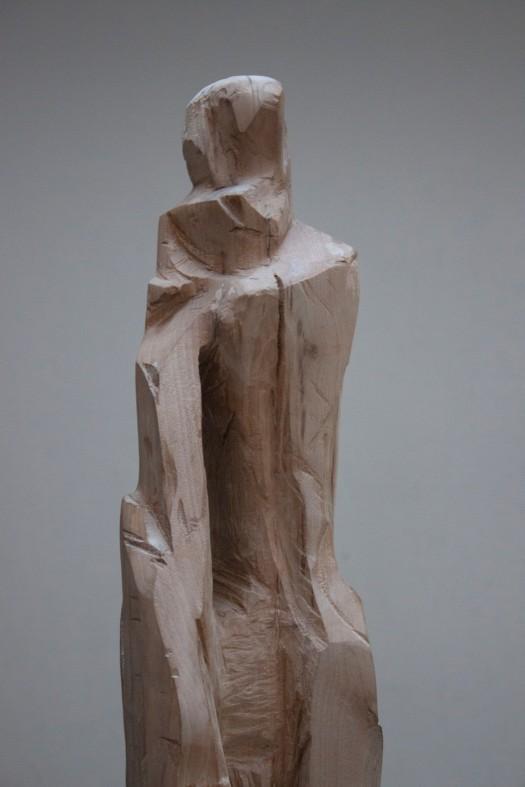 Sculpture bois J détail